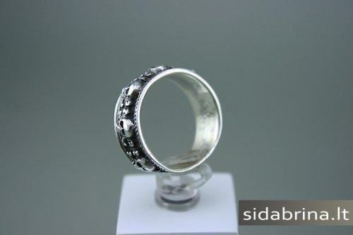 Apvalus sidabrinis žiedas