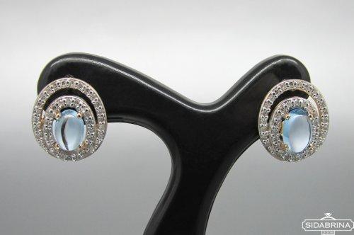 Auskarai su deimantais ir topazais