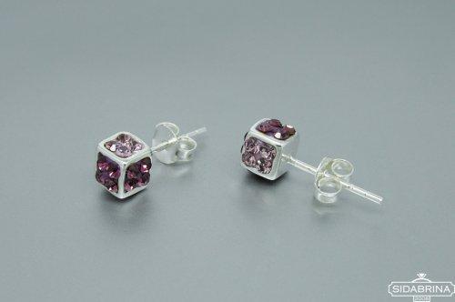 Auskarai su Svarovski kristalais