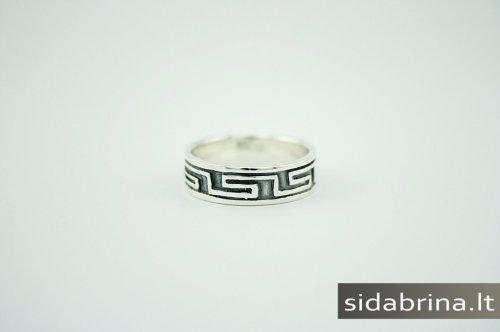 Tamsinto sidabro žiedas