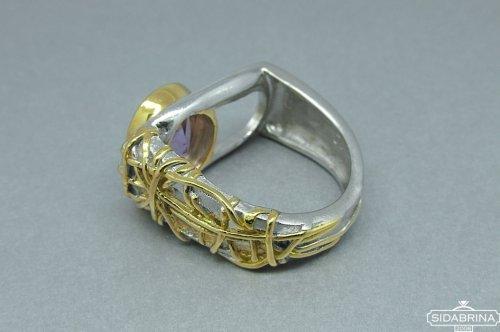 Žiedas su ametistu