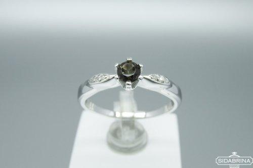 Žiedas su dūminiu kvarcu
