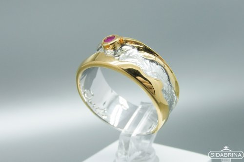 Žiedas su rubinu