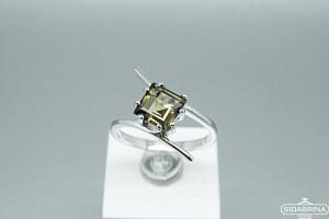 Žiedas su dūminiu kvarcu - ZDM1357