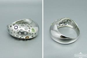 Žiedas su natūraliais akmenimis - ZDM1285