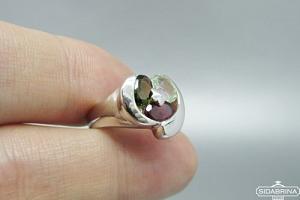 Žiedas su turmalinais - ZDM1485