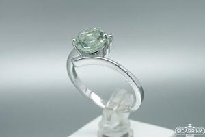 Žiedas su žaliu ametistu - ZDM1364
