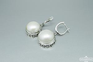 Auskarai su perlais - AUM1727