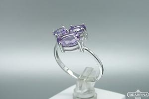 Žiedas su ametistu - ZDM1051