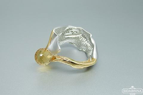 Žiedas su citrinu - ZDM1422
