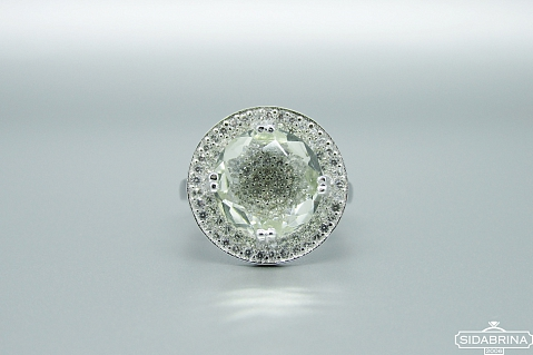 Žiedas su kvarcu - ZDM1275
