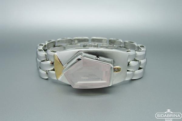 Apyrankė su rožiniu kvarcu - APM279