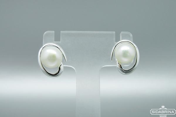 Auskarai su perlais - AUM1785